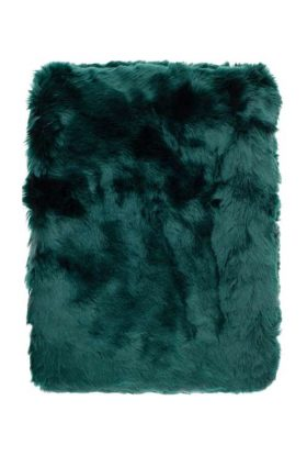 Peacock Fur Throw